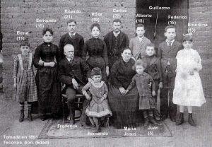 Frederick Platt y familia, 1891
